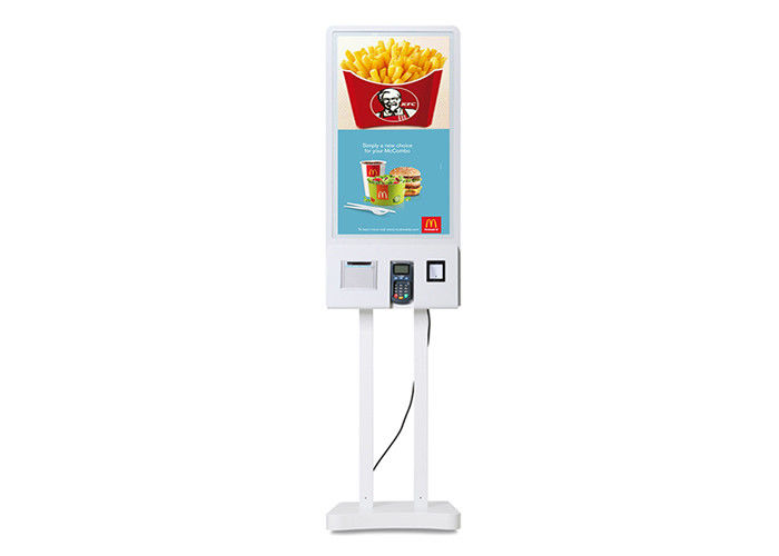 32 Inch Restaurant Self Service Kiosk Lcd Advertising Display With Ordering System